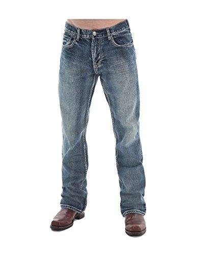 B. Tuff Western Denim Jeans Mens Steel 40 Reg Med Wash MSTEEL