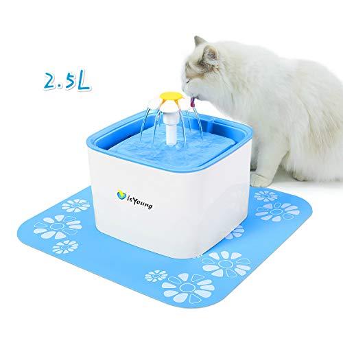 IsYoung Bebedero Gatos Fuente Silencioso 2.5L Perros