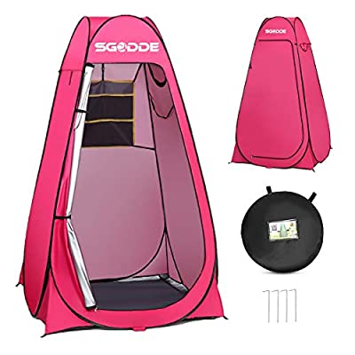 SGODDE Pop Up Privacy Shower Tent,Instant Portable Outdoor Shower Tent Camp Toilet, Changing Room, Rain Shelter with Carry Bag for Camping Hiking Beach Toilet Shower Bathroom