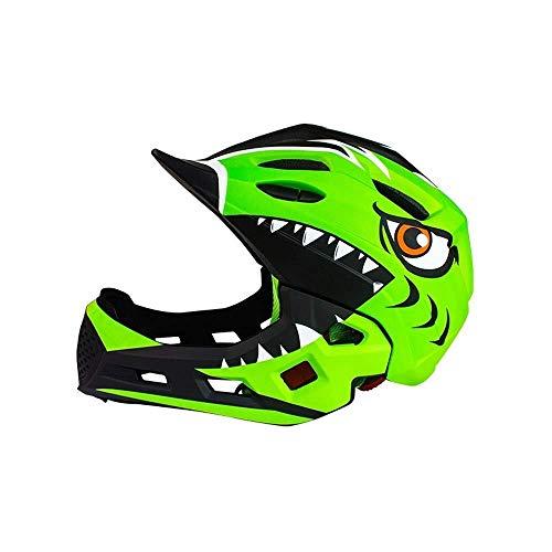 T-Mark Sicherheitsschutz Helm Gleichgewicht Autohelm for Kinder Fahrradhelm Skateboard-Helm Sport-Schutzausrüstung Vollvisierhelm (Farbe: Mint Green-Free) Einstellbare Größe (Color : GreenFree)