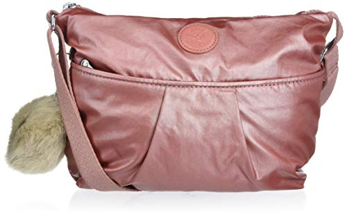 Kipling Women's Jadyn Crossbody Bag, Metallic Rust, One Size