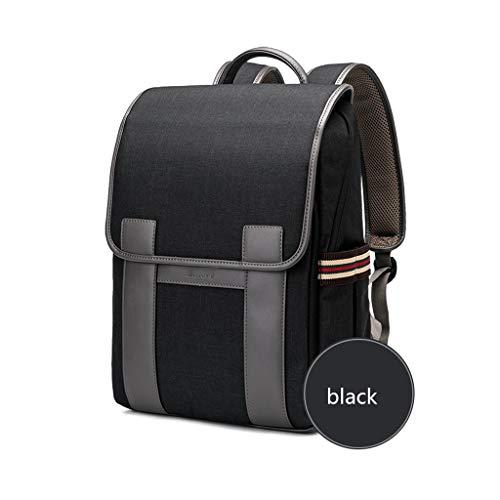 FH 男性と女性のためのラップトップバッグ、ラップトップノートブック盗難防止大容量バックパック、出張レジャーバッグ、 (Color : Black, Size : 14 inches)