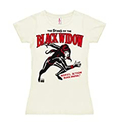 Logoshirt Marvel Comics - Viuda Negra Camiseta para Mujer