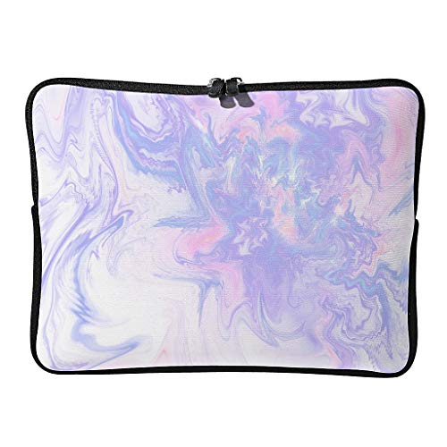 Regular Marble Texture Laptop Bags Water Resistant Upgraded Modern Style Tablet Cases Suitable for Commuter White 12 Zoll