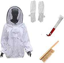 LamYHeng Thickening Beekeeping Suit Jacket Gloves Thick Heavy With Glove Kits (White2)