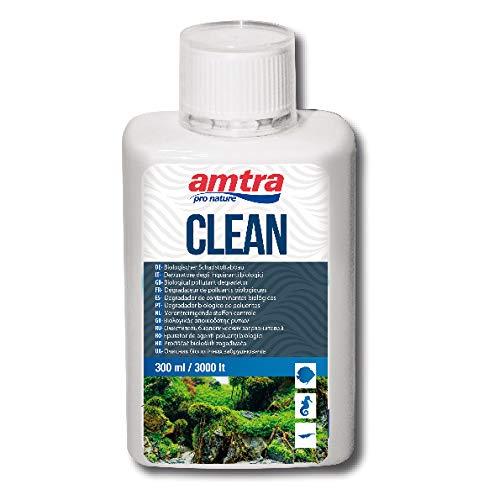 AMTRA CLEAN - Depuratore d'acqua naturale per acquari, Trattamento naturale dell'acqua per acquari, Riduce i cambi d'acqua, Formato 300 ml