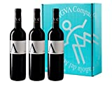 A de ANTIGVA Tempranillo - Vino tinto joven de la Tierra de Castilla - La Mancha - Caja de 3 Botellas x 750 ml