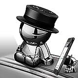 aokway 車載スマホホルダーダッシュボードクリップ携帯ホルダーiphone スタンド可愛いマグネット付き360度回転|創意プレゼント父の日ギフト(ブラック ハット)