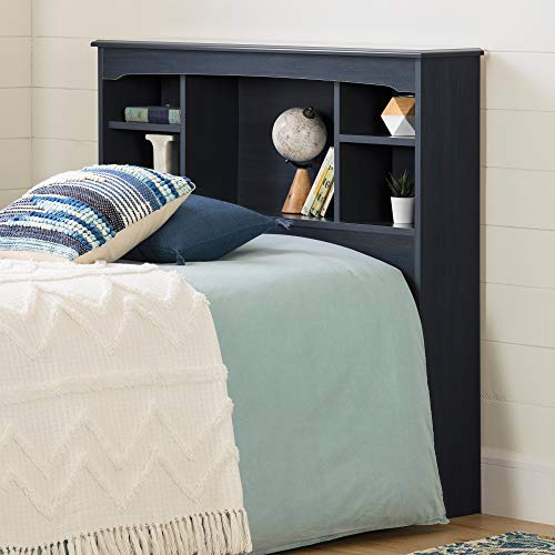 South Shore Navali Bookcase Headboard-Twin-Blueberry