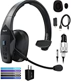 BlueParrott B550-XT Voice Controlled Bluetooth Headset with Noise Cancelling Microphone for iOS & Android Bundle with Blucoil Micro USB Car Charger, USB Wall Adapter, and 5-Pack of Reusable Cable Ties