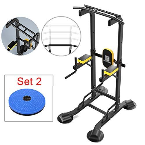 Thuis horizontale balk Indoor pull-ups multifunctionele fitnessapparatuur sporttraining enkelpolige kan dragen 300kg (Color : Set 2, Size : 120 * 77.9 * 165~240cm)