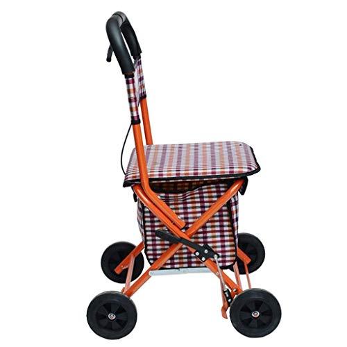 Yxsd Senioren Rollator Walker - Faltbarer Einkaufswagen Mit Sitz - Mobilitätshilfe for Erwachsene, Senioren, Senioren Und Behinderte