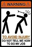 Warning to Avoid Injury Zinn Schild Eisen Gemälde Metall Wand Plakette Poster Zum Bar Kaffee Restaurant Schlafzimmer Garage Verein