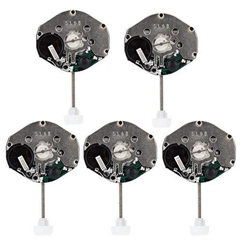 Herramienta de reparación de relojes Movimiento de reloj ligero, accesorios de movimiento de reloj, 5 piezas seguro y confiable para el hogar de los relojeros