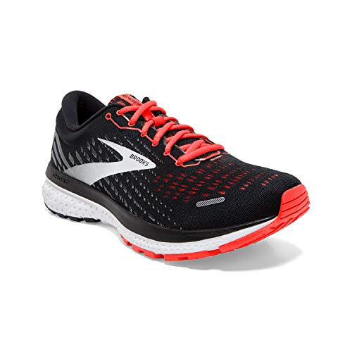 Brooks Damen Ghost 13 Laufschuh, Black/Ebony/Coral, 40.5 EU