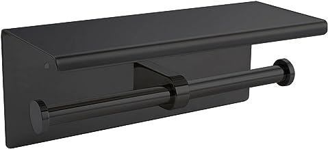 Roestvrijstalen Badkamer Muurbevestiging WC Telefoon Zwarte Plank Handdoek Rolplankaccessoires, Toiletpapierhouder