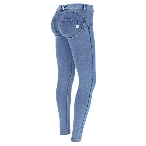 Freddy WR.UP® Hose mit niedrigem Taillenbund im Denim-Effekt, hell waschen, Skinny, Mehrfarbig L