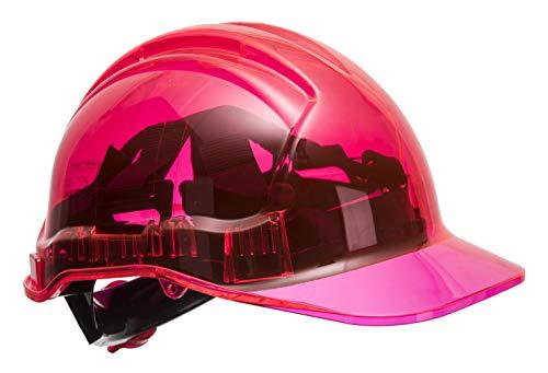 Portwest pv64pir serie PV64pico vista trinquete translúcido duro sombrero casco,...