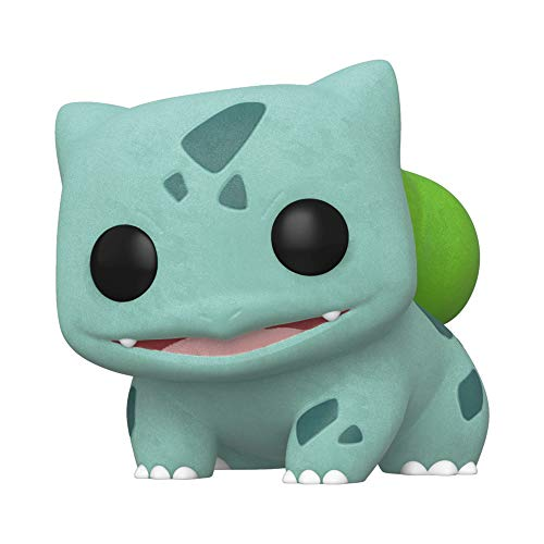 Funko Pop! Games: Pokemon - Flocked Bulbasaur, Spring Convention Exclusive, Multicolor, Model:45920