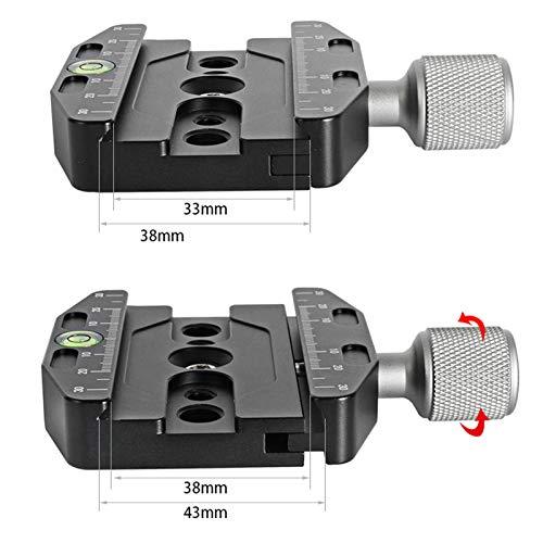 VKESEN70mmアルミニウム合金クイックリリースクランプアルカスイス規格と互換性,クイックリリースプレートと三脚と一脚用