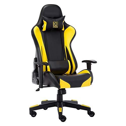 LC Power Gaming-Stuhl LC-GC-600BY schwarz/gelb
