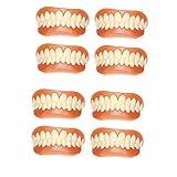 HYGLPXD Cosmético Dentaduras Postizas Dentales Carillas Instantáneas Dientes Temporales Dientes Falsos Superiores e Inferiores Carillas Dentales,8pieces