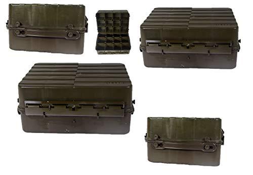 Schwedische Transportkiste Kunststoff Oliv gebraucht 42,5 x 31,5 x 19,5 Werkzeugkiste