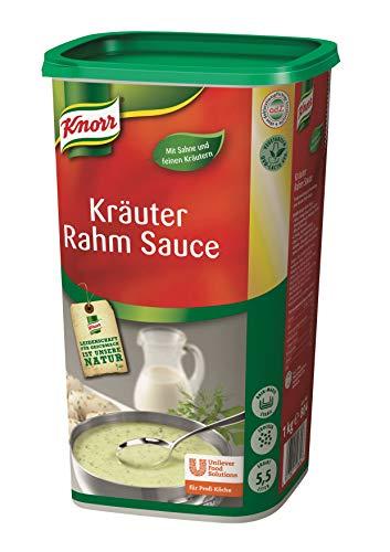 Knorr Kräuter Rahm Sauce Trockenmischung (helle, cremige Sauce und frischer Kräutergeschmack) 1er Pack (1 x 1 kg)