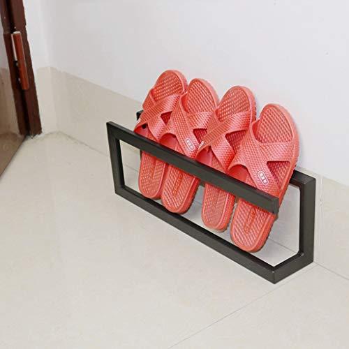 Zfggd Estante para Zapatos, Simple y Moderno y pequeño Zapatero. (Color : Black, Size : 45x9x15CM)