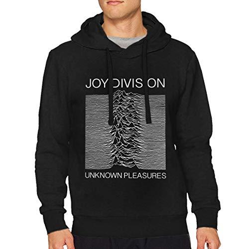 BridgetEshbaugh Joy Division Hoodies Sweater for Men Fashion Long Sleeve Tops Casual Sweatshirt Drawstring Pullover Shirt Medium Black
