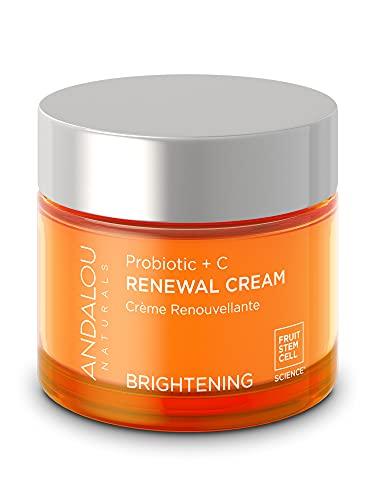 Andalou Naturals Probiotic + C Renewal Cream, Probiotic Plus, C, Ivory, Probiotic Plus C, 1.7 Oz