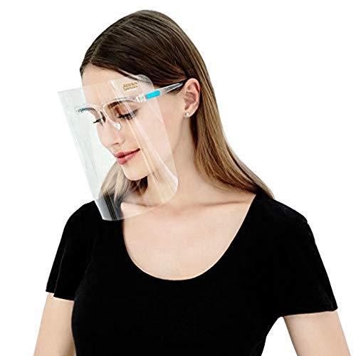 Atrum Shutrum Reusable 5 Goggles Face Shield Mask Full Protection from Virus Dust for Eyes Nose Safety Transparent Visor Comfortable Frame with 1 Extra Visor Children Men Women Doctors (Set of 5)