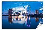 Postereck 3030 - Poster & Leinwand, Singapur Skyline Asien