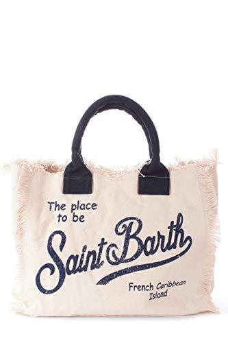 Borsa Mare Canvas MC2 Saint Barth Vanity Natural, rosa