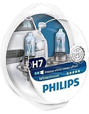 Philips WhiteVision efecto Xenon - Bombilla para faros delanteros con efecto halógeno H7 12972WHVSM, paquete doble