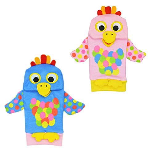 Schimer Rasseln & Greiflinge Mooie Baby Voet Sokken Rattles Speelgoed, Baby Rassel-Spielzeug - Leuke Dier Baby, 2 Socken Zachte Voet Finder Set Zachte Entwicklungsspielzeug für Kinder B