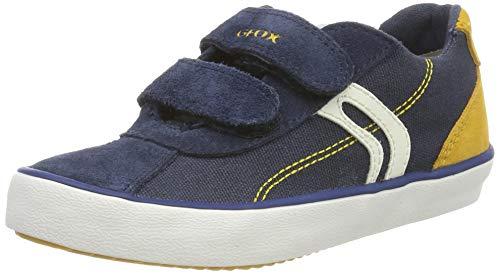 Geox Jungen J Kilwi Boy I Sneaker, Blau (Navy/Yellow C0657), 33 EU
