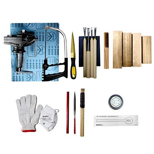 SUNMO juego de herramientas de tallado de cuchara de madera 14 en 1 para tallar cucharas, cuchillos de carpintería, escultura, cuchillos blanqueadores para principiantes y profesiones
