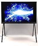 Samsung LS01R The Serif 108 cm (43 Zoll) QLED Lifestyle Fernseher (Serif Ambient Mode, Ultra HD, HDR, Smart TV, Nachtblau) [Modelljahr 2019]