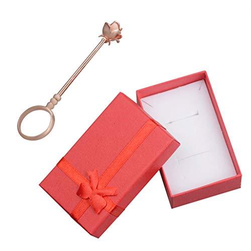 VIccoo Anillos Lady Smoking Ring Romántico Rose Shelf Cigarette Holder Gamer Helper - Rosa Oro - 17mm