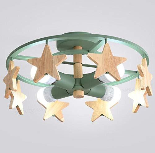Kinderkamer smeedijzeren LED plafondlampen Φ50×20cm E27 5W×4 wit licht 6000 K voor woonkamer, slaapkamer, keuken, balkon hal
