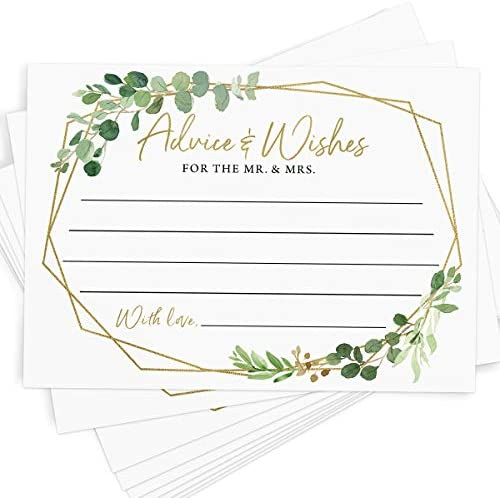 Bridal Shower Scratch Off Game, 30 Cards, Gold Greenery Lottery Tickets, Activities, and Ideas