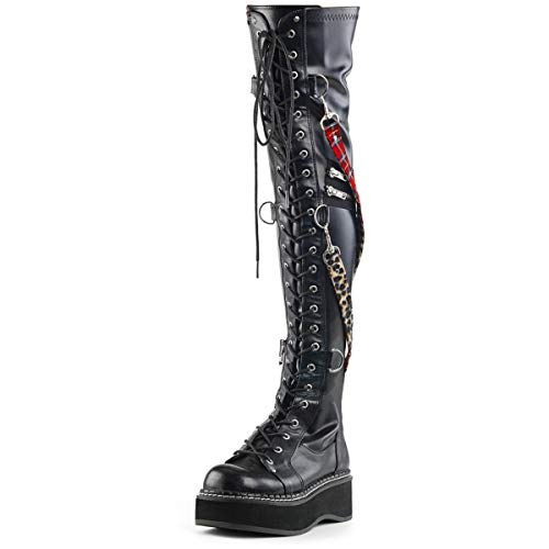 Demonia Damen Overknee Stiefel Emily-377 vegan Leather Gr.39