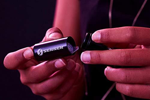 Senner MusicPro Gehörschutz Ohrstöpsel mit Lamellen im Alubehälter – Ideal für Musik, Konzert, Disco und Festival, clear/transparent - 4