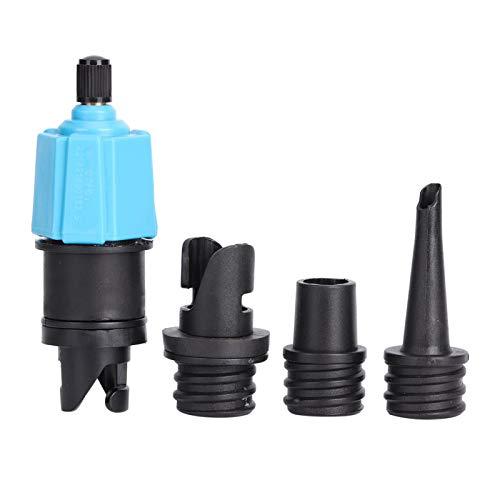 SALUTUYA Adaptador de válvula de Aire Inflable Duradero con 3 grifos de Aire de aleación de Nailon Resistente, para Tabla de Remo, Canoa, Bote de Goma,