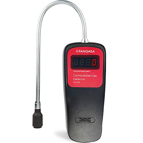 Gas Detector Portable Natural Gas Tester Detector   Combustible Propane Methane Gas Sensor Sniffer with Sound Light Warning, Adjustable (Digital Detector only)