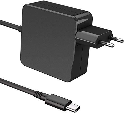 Fuente de alimentación USB C de 65 W tipo C adaptador AC PD para Lenovo, HP, Asus, Acer, Dell, Xiaomi Air, Huawei Matebook, MacBook Pro, Thinkpad y otros dispositivos de tipo C