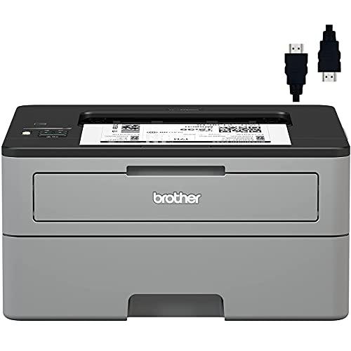 Premium Brother Compact Monochrome Laser Printer I Wireless Printing I Duplex Two-Sided Printing I Amazon Dash Replenishment Ready + Delca HDMI Cable