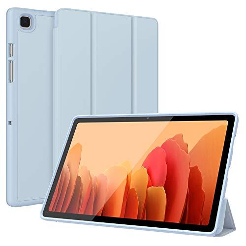 Soke Samsung Galaxy Tab A7 10.4 2020, schmal, weiches Silikon, dreifach faltbar, leicht, automatische Sleep/Wake für Samsung Galaxy Tab A7 26,4 cm (10,4 Zoll) Tablet [SM-T500/T505/T507] (hellblau)