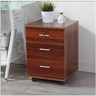 Classeurs Dépôt des ménages Cabinet Lock Mobile Type de tiroir Mobile Solide Bureau de Rangement en Bois Armoire de Rangem...